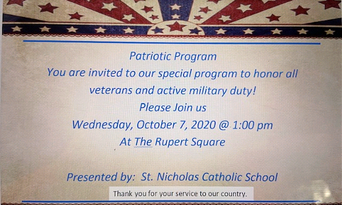 Please Join Us For Our Patriotic Program